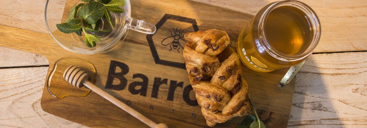 Barron Honing met muntthee en barron honing plankje